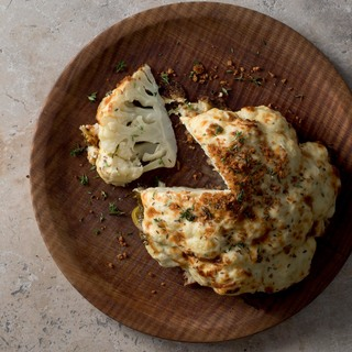 Cauliflower cheese with caraway seeds